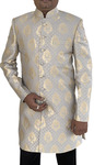 Mens Silver Indowestern Sherwani for Indian Wedding