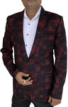 Mens Slim fit Casual Black Two Button Sports Blazer sport jacket coat Notched Lapel
