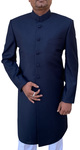 Mens Indian Suit Navy Blue Wedding Western Attire Sherwani