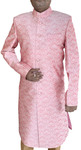 Mens Pink Indo Western Sherwani For Groom
