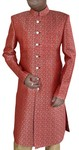 Mens Red Indian Sherwani Indowestern Outfit
