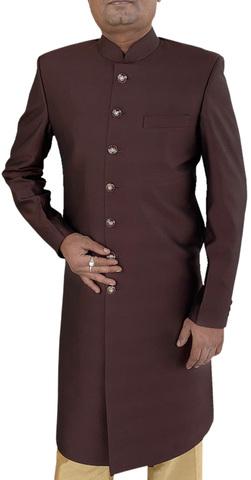 Mens Traditional Ethnic Indian Dress Brown Sherwani