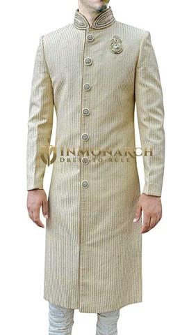 Mens Ivory 3 Pc Wedding Sherwani Fabulous