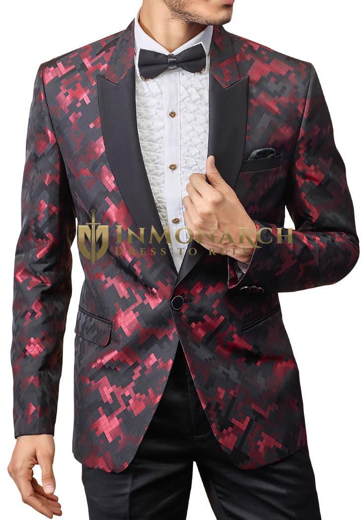 Mens Black 5 pc Tuxedo Suit for Groom