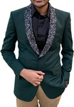 Mens Slim fit Green Sport Jacket