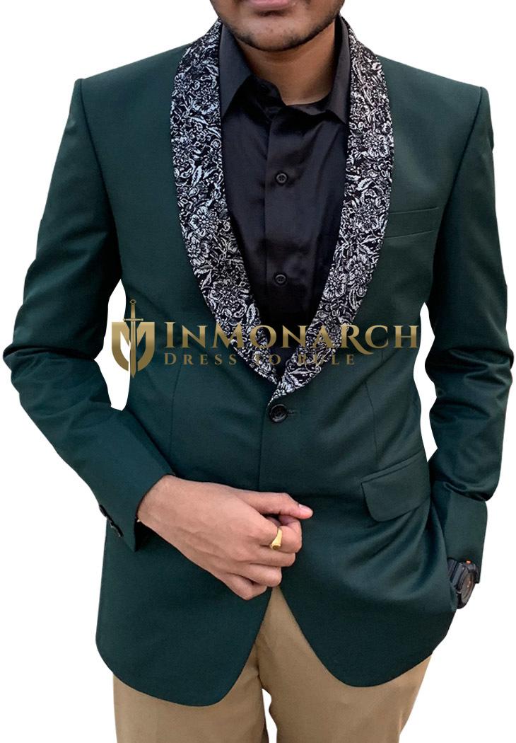 Mens Green Tuxedo Suit for Wedding