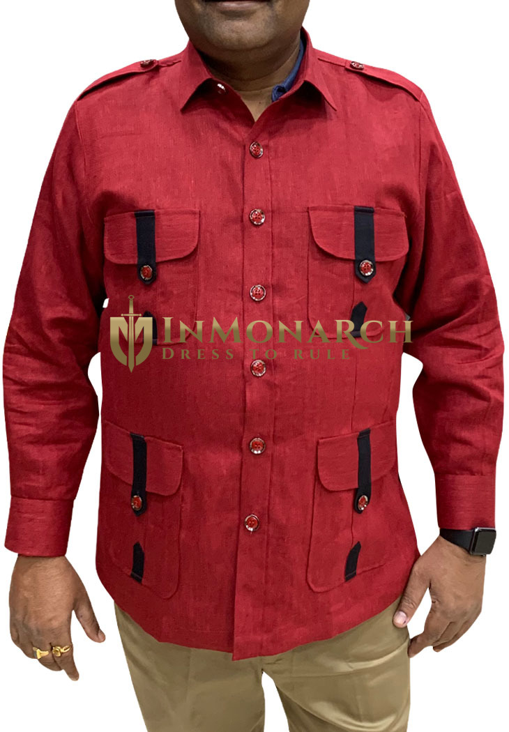 Boy Scout Uniform red Safari Shirt