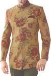 Mens Burlywood 3 Pc Jodhpuri Suit