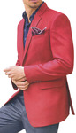 Mens Slim fit Red Blazer Sport Jacket Coat