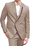Mens Almond Stylish 2 Button Suit