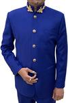 Cobalt Blue Mens Jodhpuri Suit