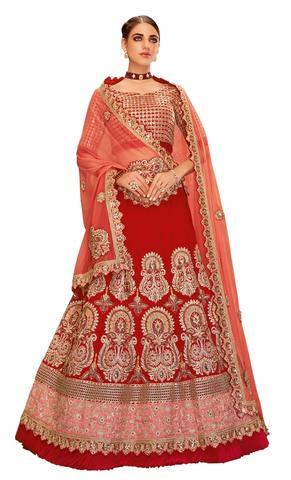 Red Silk Wedding Lehenga
