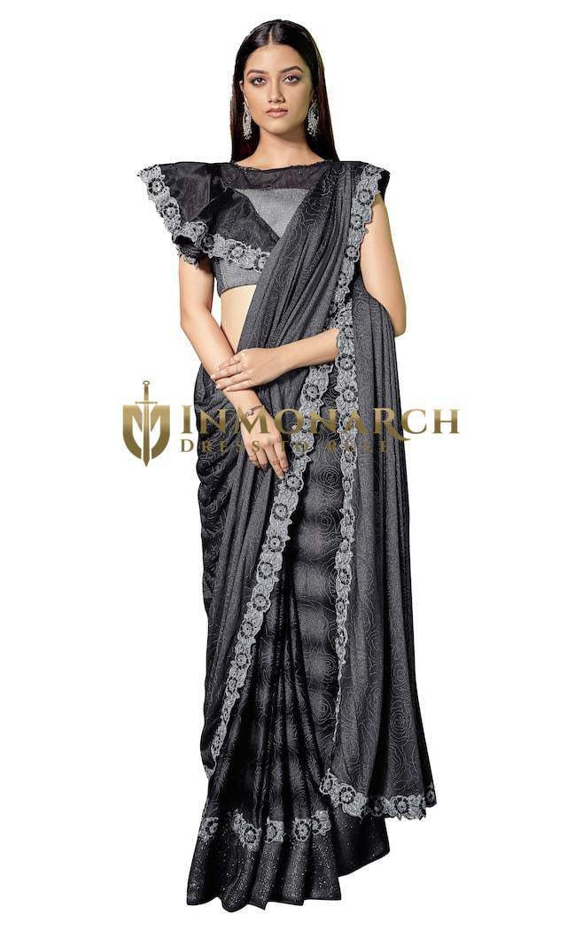 Black and Silver Party wear Saree