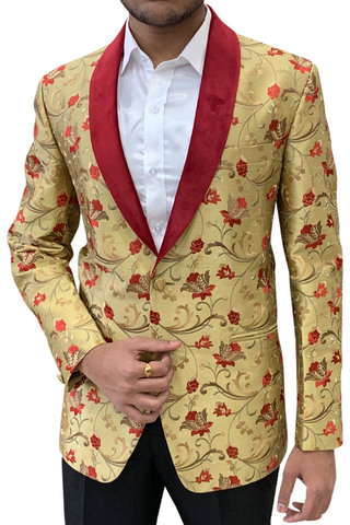 Golden Mens Suit Jacket | Blazer for Summer Wedding