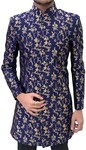 Mens Navy Blue Traditional Sherwani Suit for Indian Wedding