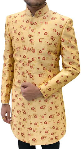 Mens burlywood Indowestern Sherwani for Indian Wedding