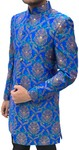 Mens ocean blue Indowestern Sherwani for Groom