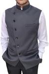 Mens Dark Gray fashionable Nehru Vest | Waistcoat