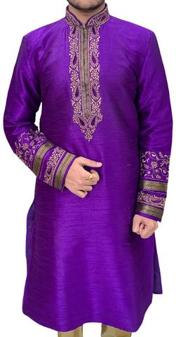 Purple Mens Ethnic Designer Kurta Pajama