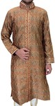 Brown Mens Ethnic Indian Semi Sherwani