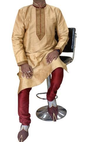 Burlywood Indian Kurta Pajama for Men