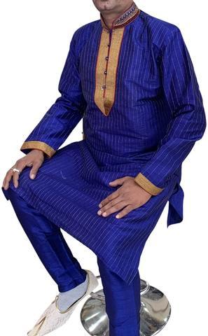Blue Fashionable Indian Kurta Pajama for Wedding