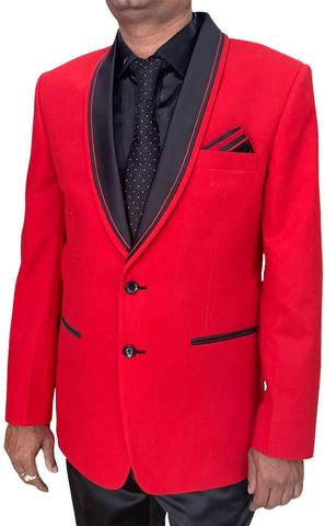 Mens Red Tuxedo Suit in 5pc with Two Button Shawl collar Jacket
