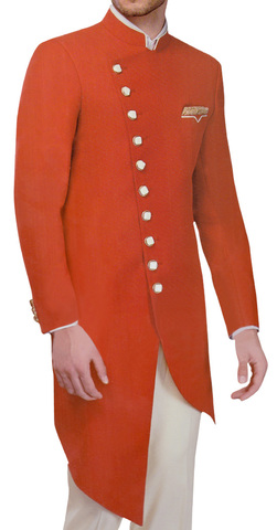 Crimson Red Mens Indian Sherwani for Wedding