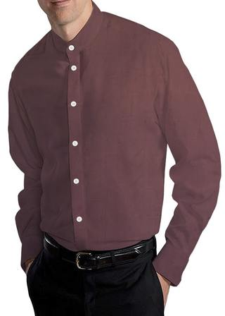 Brown Nehru Shirt for Men