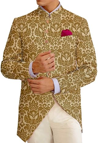 Burlywood Mens Jodhpuri fashionable Bandhgala suit