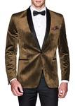 Brown Mens Slim Fit | Casual Velvet Blazer | Sport Jacket | Coat