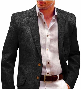 Mens Black Designer Velvet Blazer Sport Jacket Coat