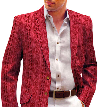 Designer Slim fit Red Sport Jacket