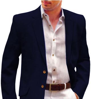 Navy Blue Mens Casual Blazer