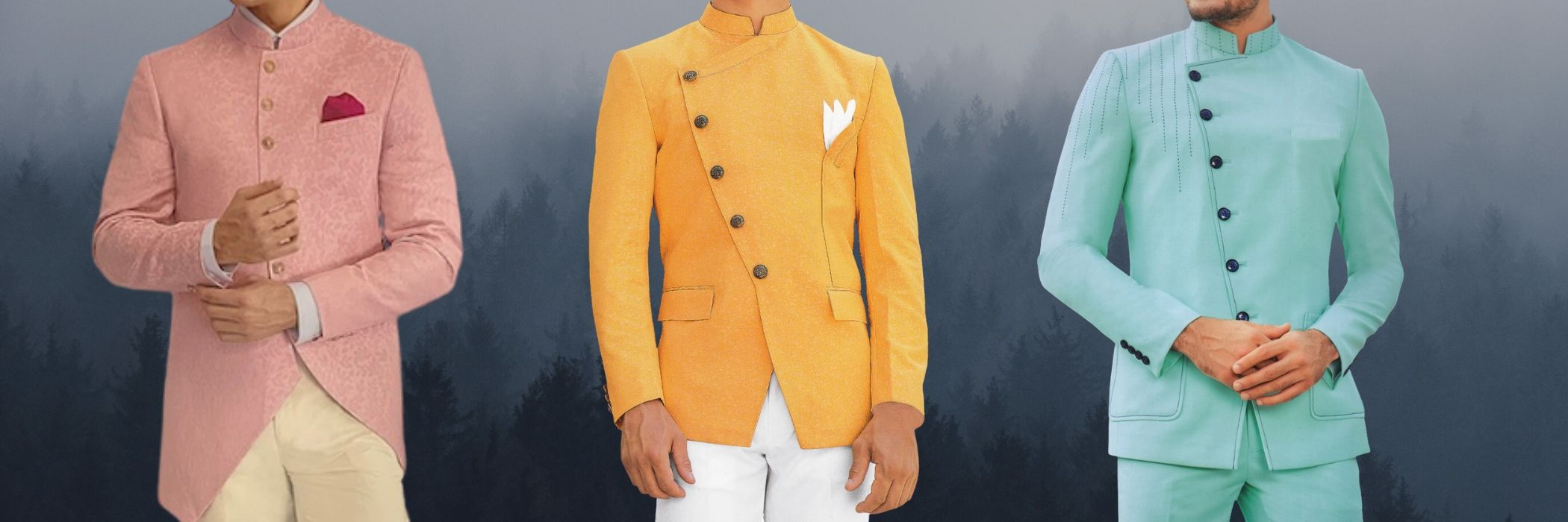 Mens Nehru Collar Suit